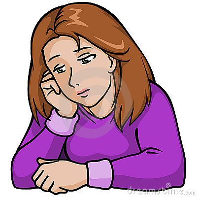 Grieve clipart emotional stress Clipart  Sad Woman