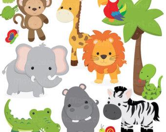Safari clipart Animal Clipart Vectors Safari Vectors