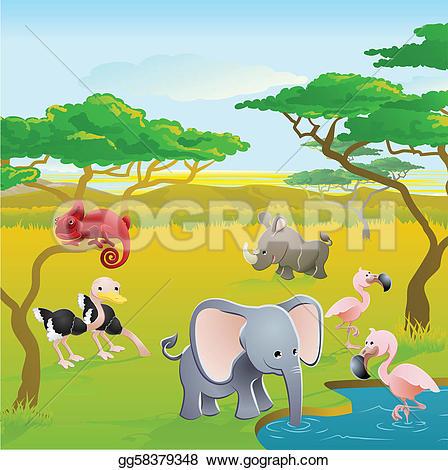 Safari clipart african safari Safari safari Banner Clip animal