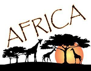 Safari clipart african safari Africa Giraffes African silhouette Best
