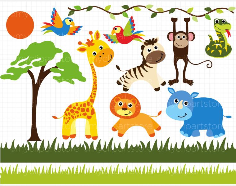 Safari clipart african safari Clip Safari Borders art Clipart