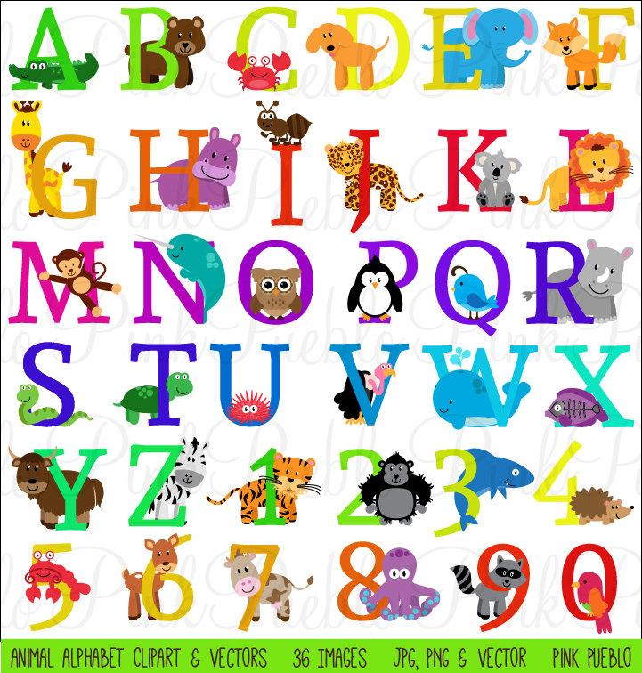 Safari clipart alphabet Use Font Font Numbers Animal