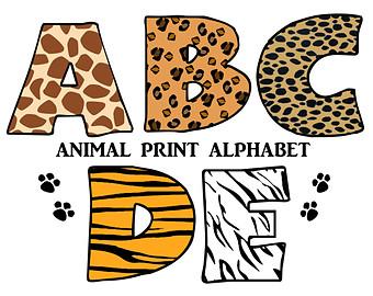 Safari clipart alphabet Jungle Zone Letters Cliparts alphabet