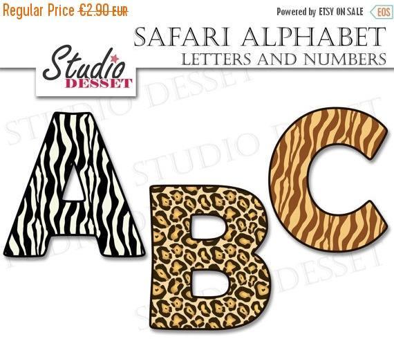 Safari clipart alphabet Uppercase art 55% Alphabet Abc