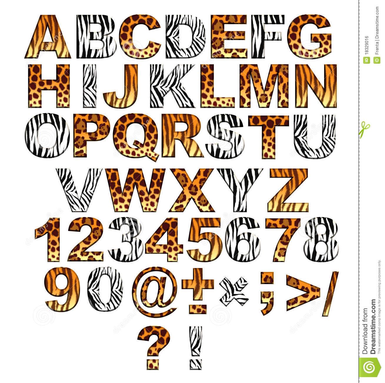 Safari clipart alphabet Style safari in Image of