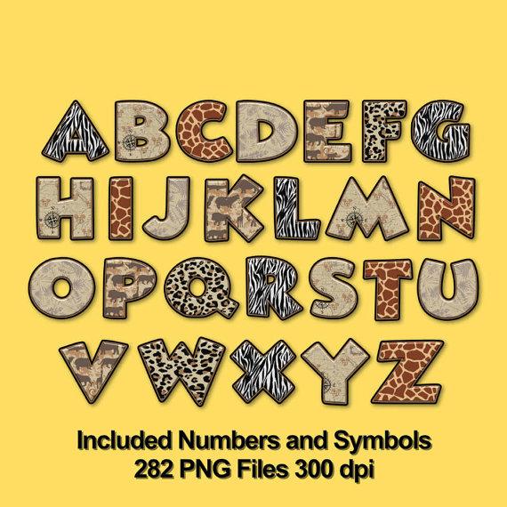 Safari clipart alphabet Alphabets on Safari png 6