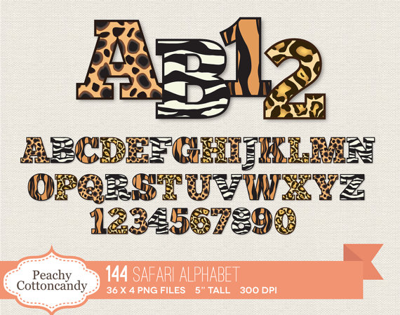 Safari clipart alphabet Art Alphabet zebra GET BUY
