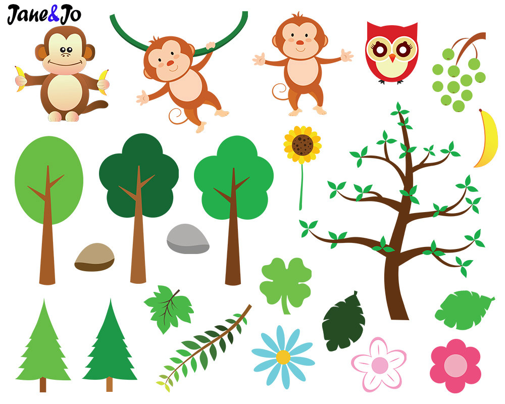 Safari clipart animal plant Animals file digital Jungle Digital