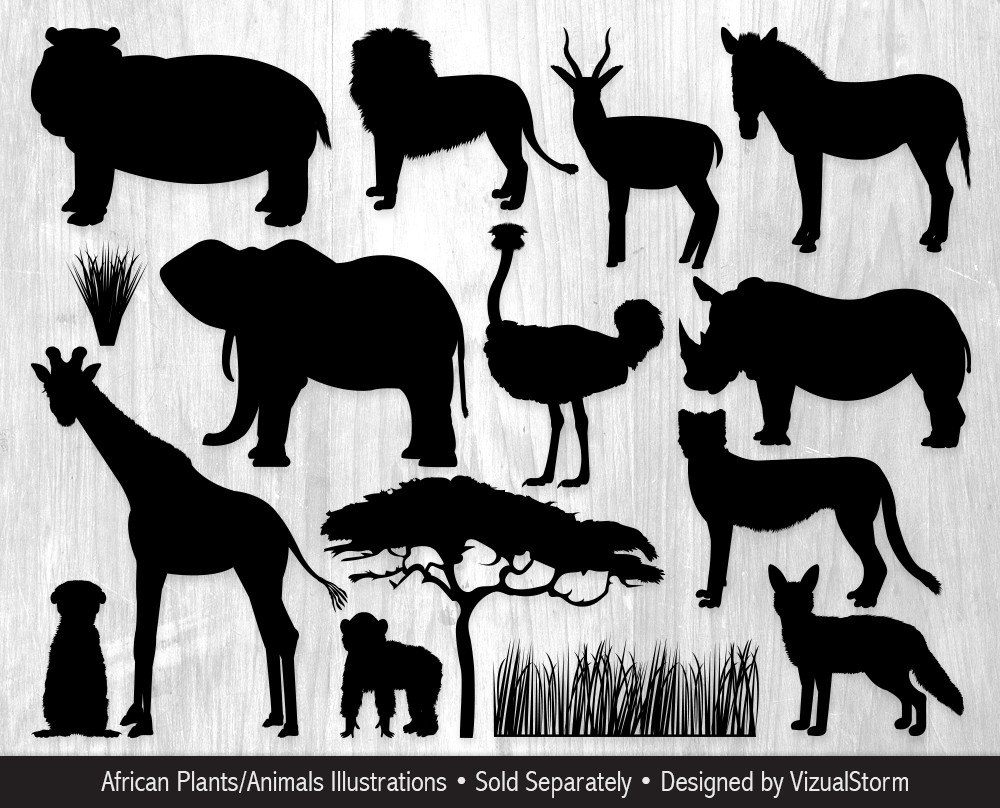 Safari clipart animal plant  file digital Graphics Safari