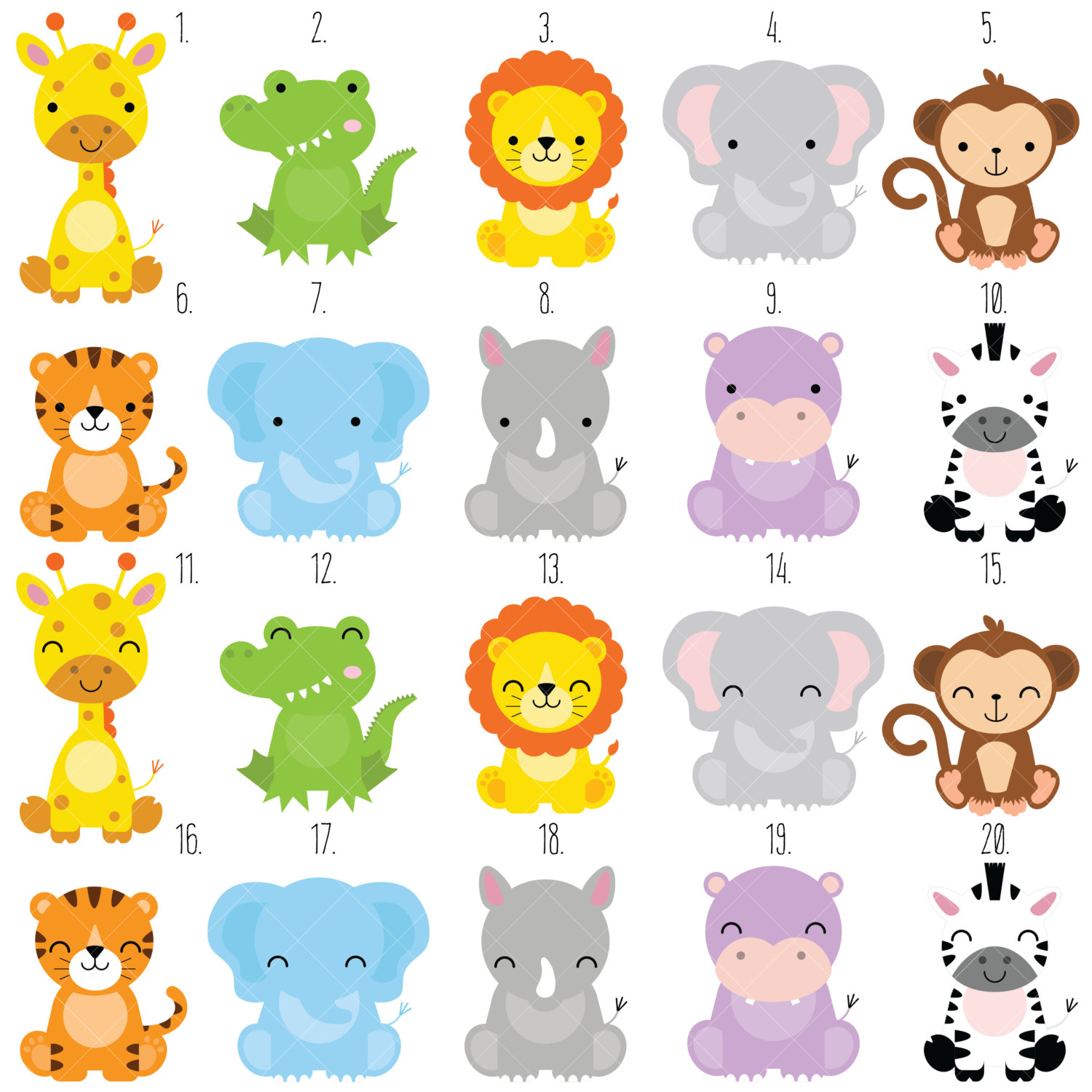 Safari clipart animal plant / file  digital Animals
