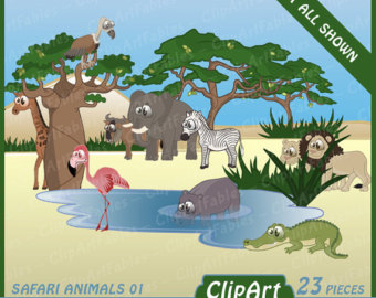 Safari clipart animal plant Instant Jungle clip clip safari
