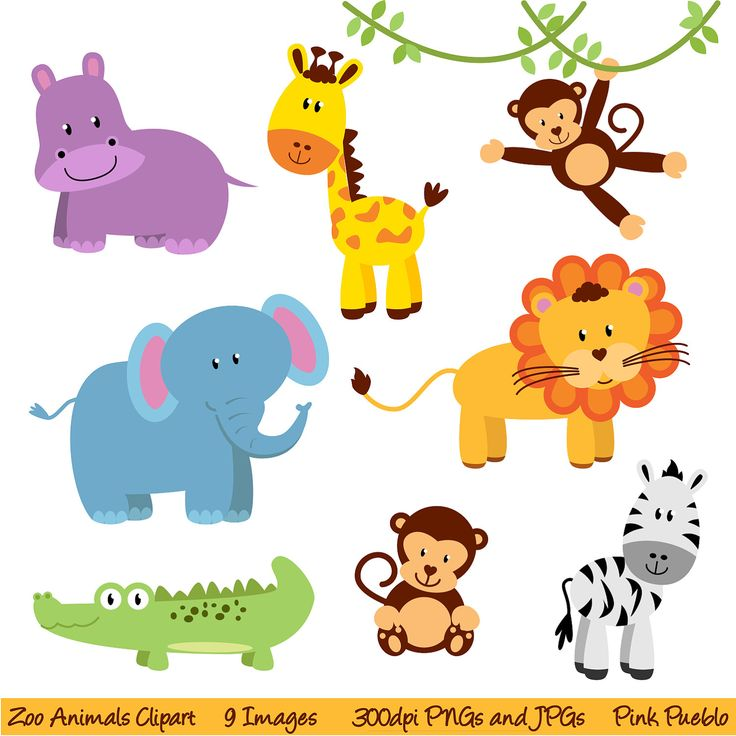 Safari clipart animal plant Best Commercial Zoo Use Art