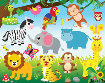 Safari clipart animal plant Graphics Animal Digital Safari and