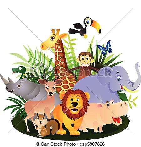 Wildlife clipart africa Clip animals Animal Art