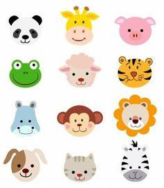 Safari clipart animated animal Set Cute cartoon monkey Animal