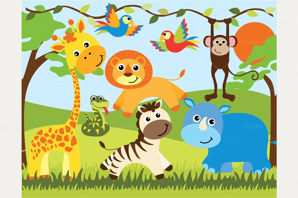Wildlife clipart baby shower safari Animals Animal Baby Safari Bay