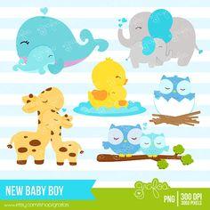 Mommy clipart baby animal Digital por Animales GIRL Bebes