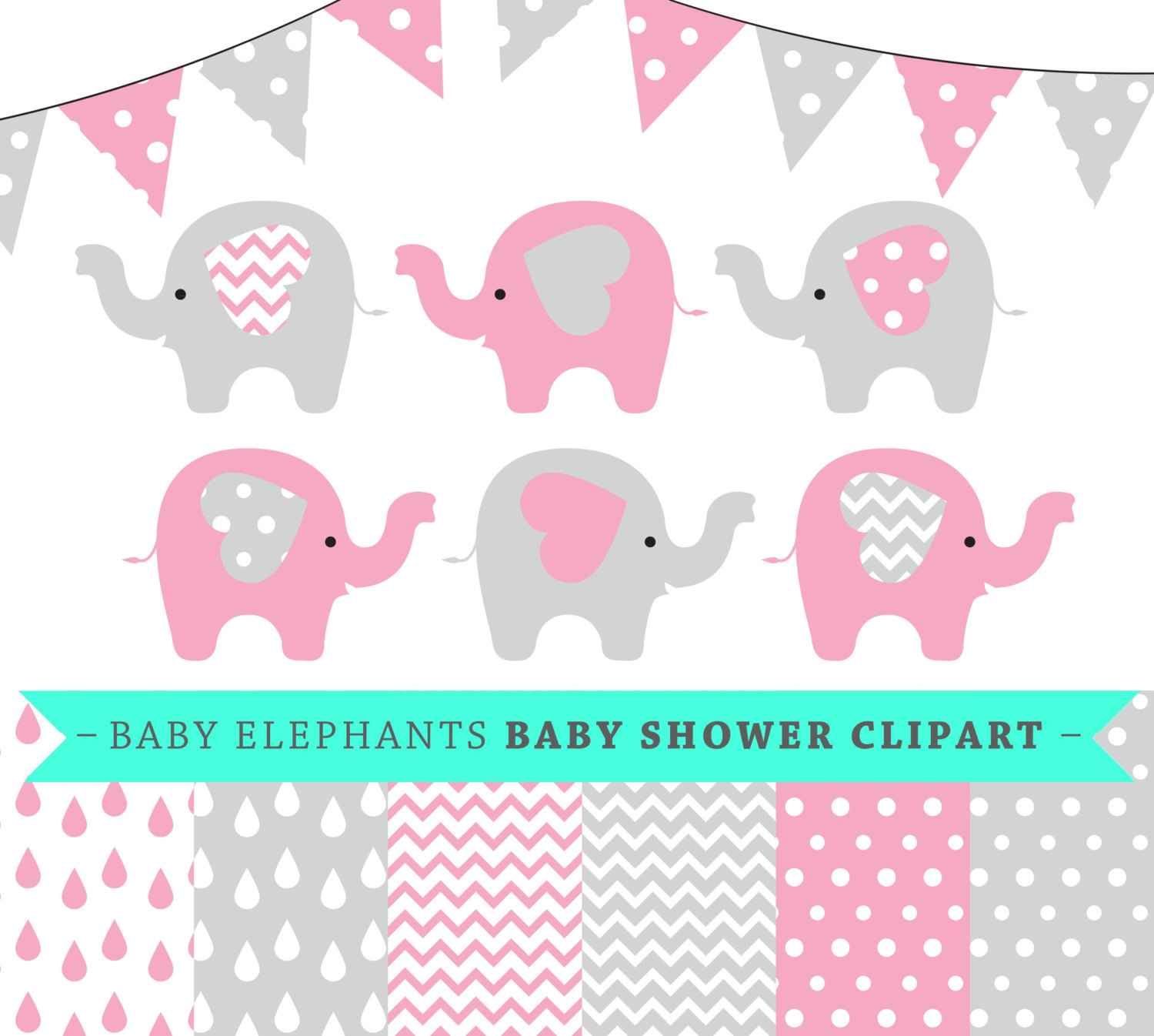 Pink clipart baby elephant Item? baby elephants and vector