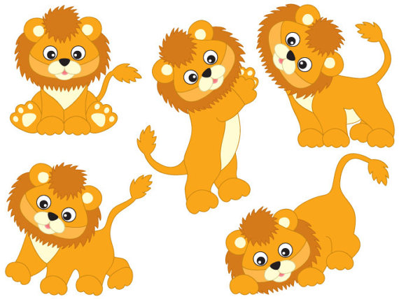 Safari clipart baby lion Studio  Digital Vector Animal