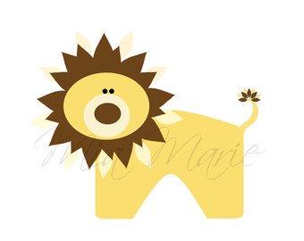 Safari clipart baby lion Art Safari art clip Clip