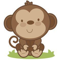 Safari clipart baby monkey #1