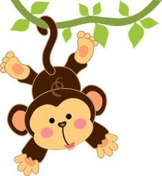 Safari clipart baby monkey #6