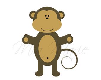 Safari clipart baby monkey #7