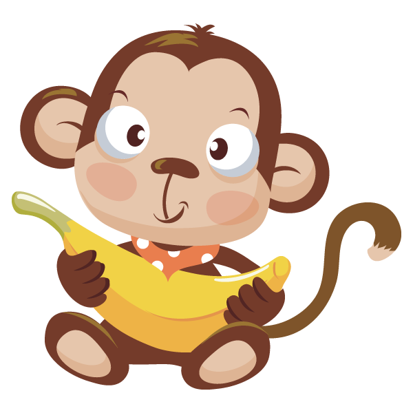 Turtle clipart baby monkey #10