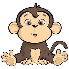 Safari clipart baby monkey #12
