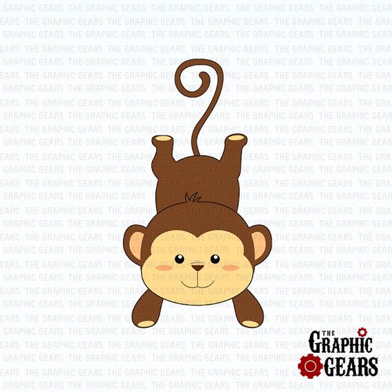 Safari clipart baby monkey #15