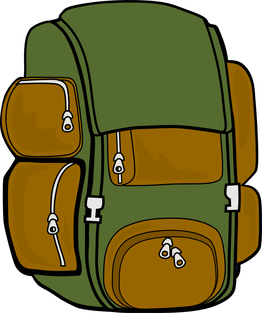 Safari clipart backpack Hiking cliparts Backpack Clipart