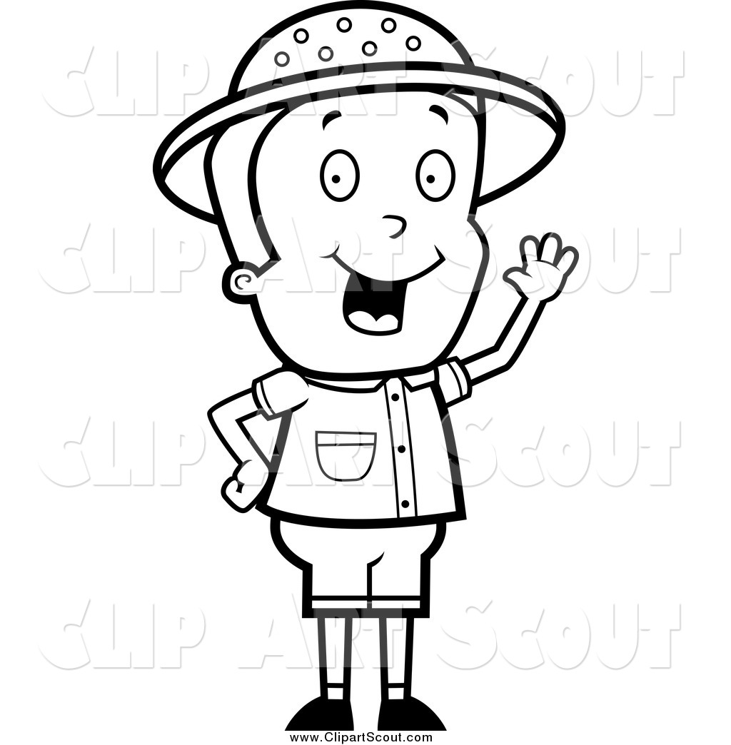 Safari clipart black and white Black Boy of a and