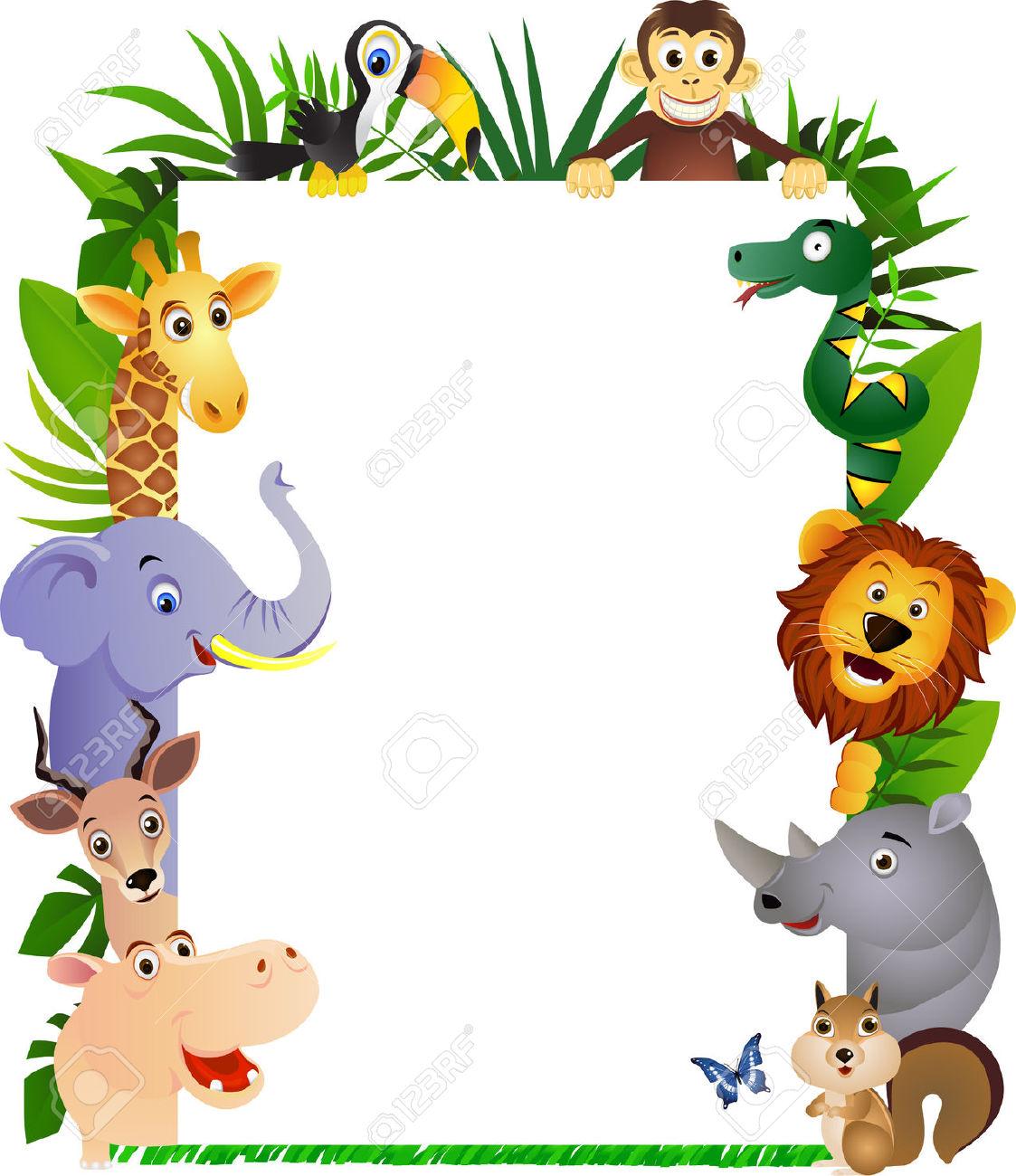 Safari clipart cartoon Frame 6765986 animal cartoon animals