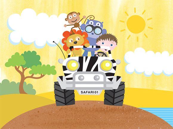 Safari clipart cartoon Cartoon  pictures animals safari