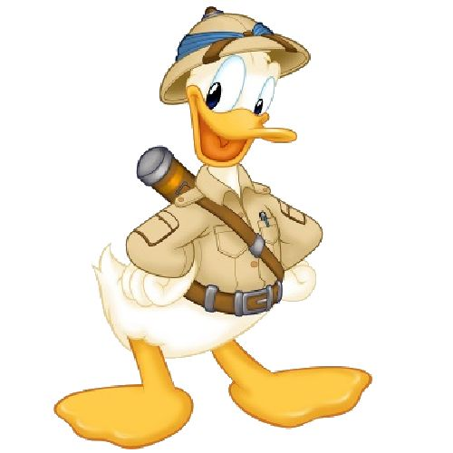 Safari clipart daisy duck #4