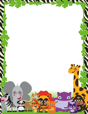Safari clipart happy animal Populated border populated This hippos