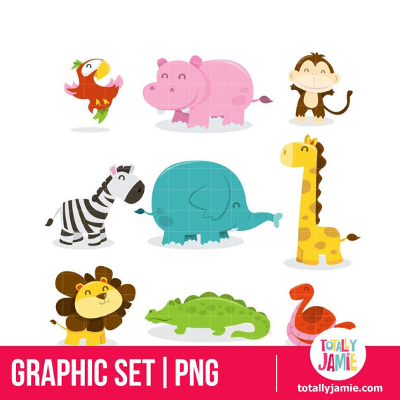 Safari clipart happy animal Animal Clipart  Jungle /