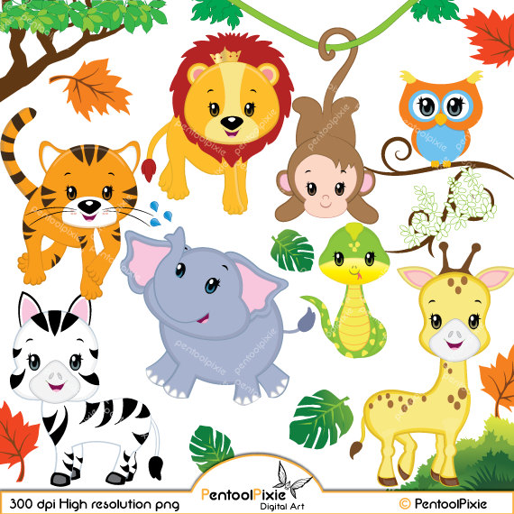 Safari clipart happy animal Safari Baby Safari Baby Clipart