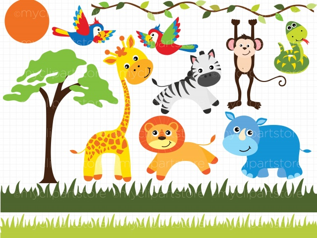 Safari clipart happy animal Animals Clipart Safari Animals Clipart