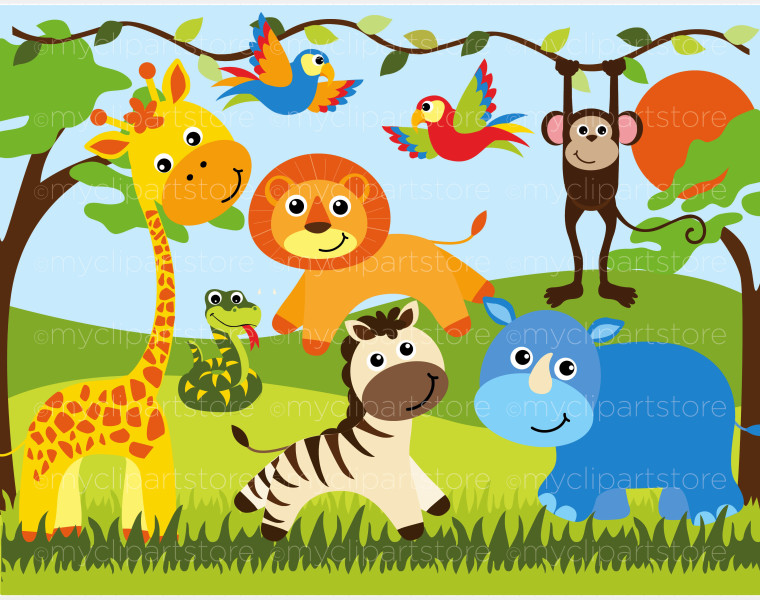 Safari clipart happy animal African Clip FreeClipart Art Animal