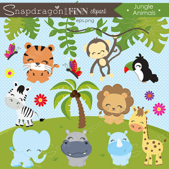 Safari clipart happy animal Safari Jungle clipart clipart Clipart
