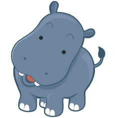 Adorable clipart baby hippo Hippo Five HAPPINESS IS IN