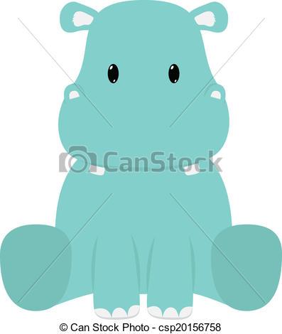 Safari clipart hippo Hippopotamus Hippopotamus Baby seated 826