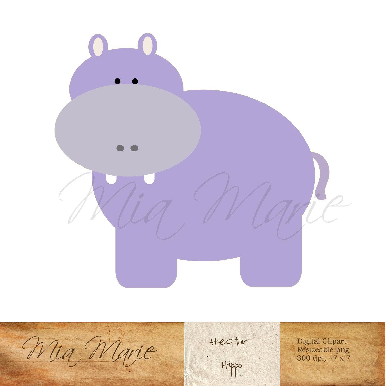 Safari clipart hippo Clip DOWNLOAD Digital Art art