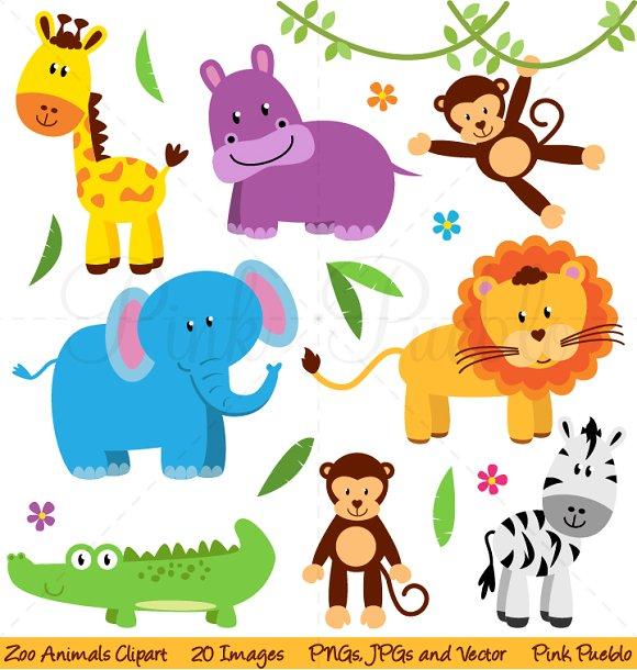 Animal clipart safari animal Zoo Illustrations Creative Jungle Illustrations