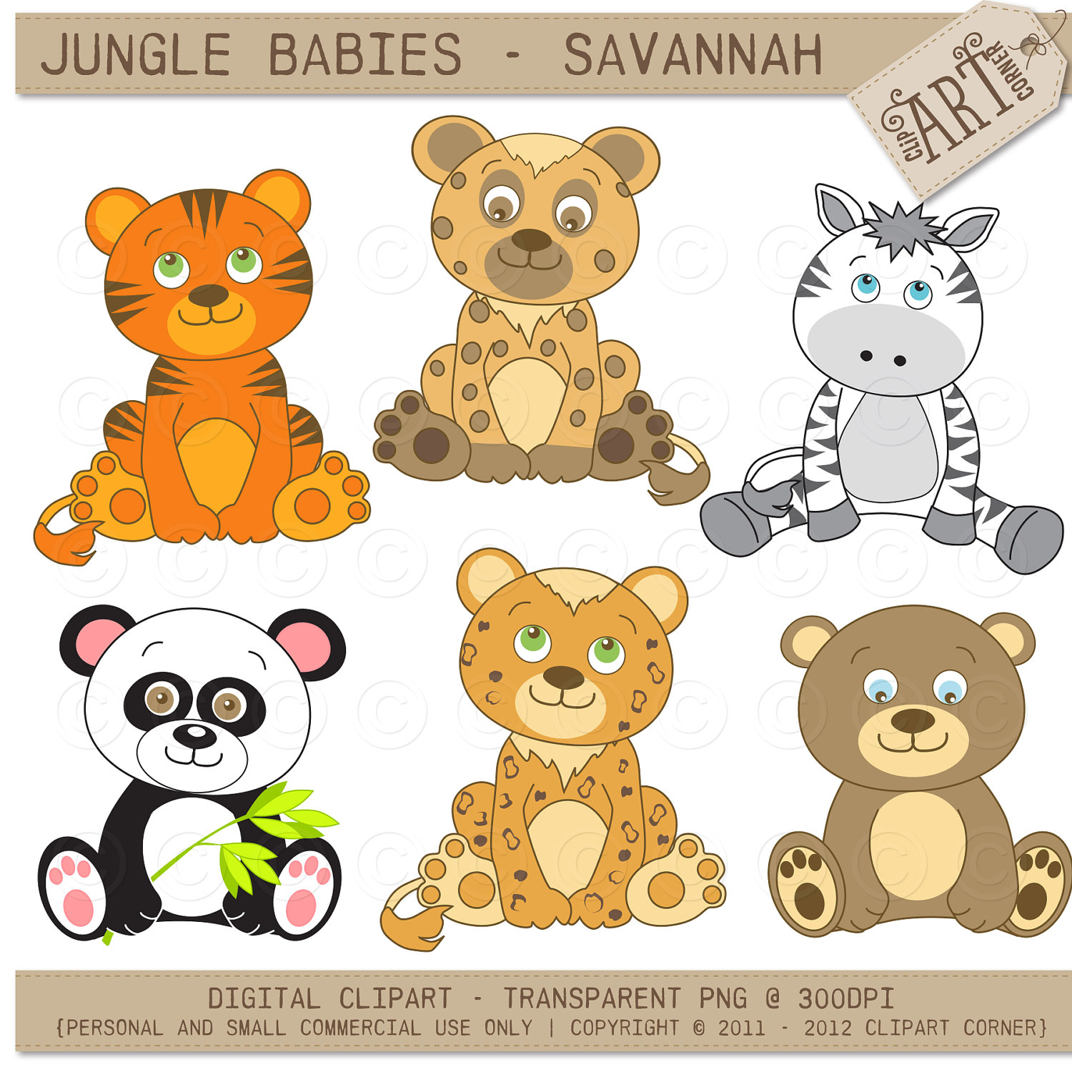 Animal clipart baby animal Jungle Cute Baby snake clipart