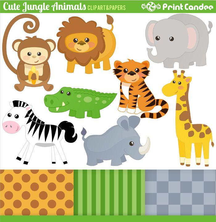 Tiger Print clipart jungle animal #1