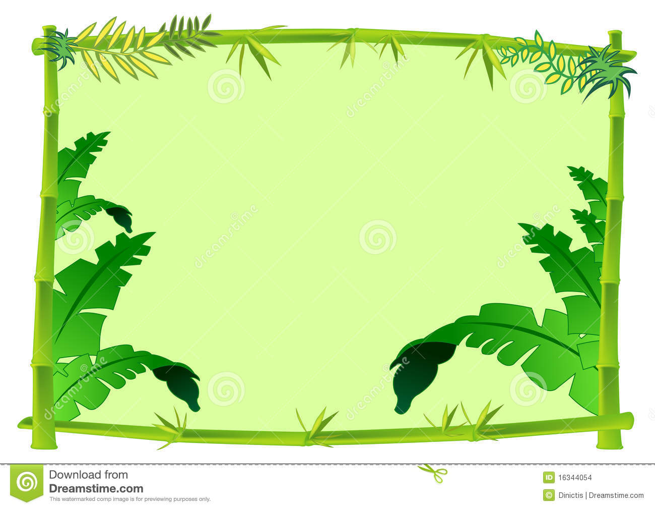 Ivy clipart jungle leaves background 115KB Concept Bamboo Clipart 1300x1009
