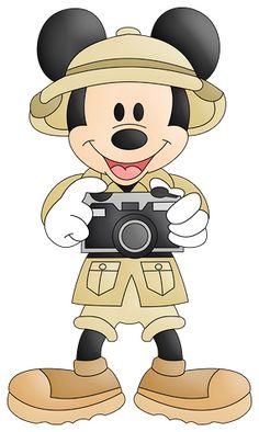 Safari clipart mickey mouse and friend Pesquisa  Minus Safari silhouette