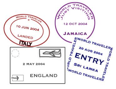 Stamp clipart passport #4